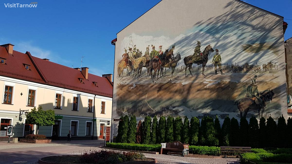 Mural - the part of Panorama of Siedmiogród